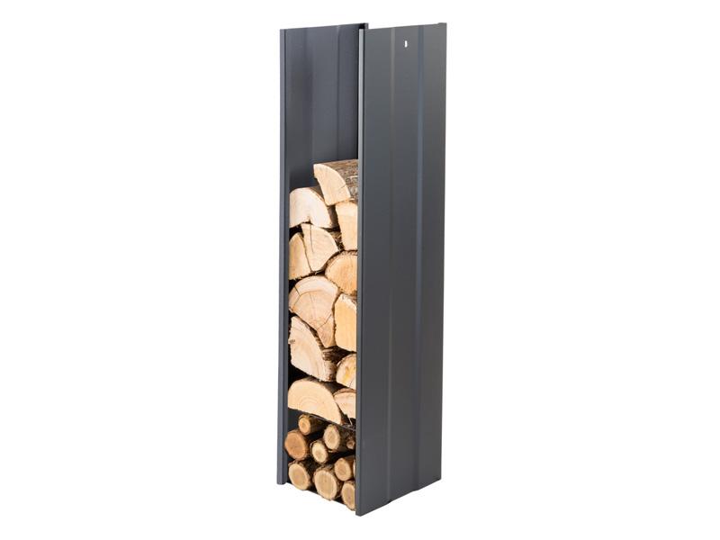 Zásobník na dřevo černý 270mm