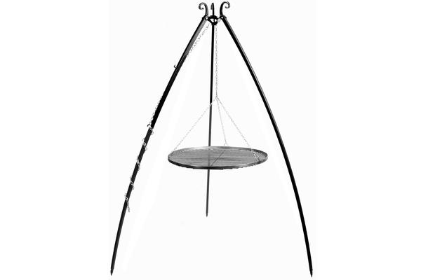 CookKing Trojnožka 200 s roštem 70cm černá ocel