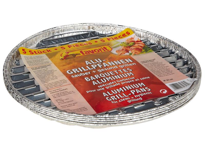 Grilovací miska kruhová 34cm, 5 ks
