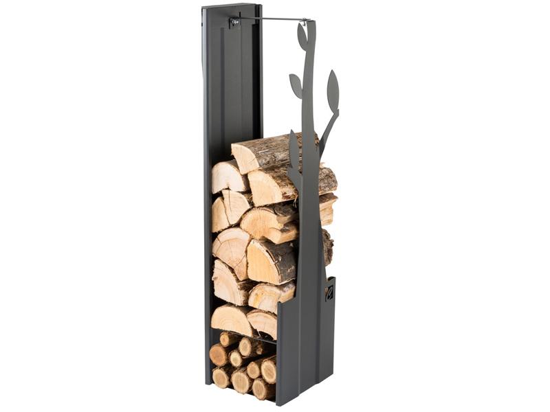 Zásobník na dřevo strom černý 270mm