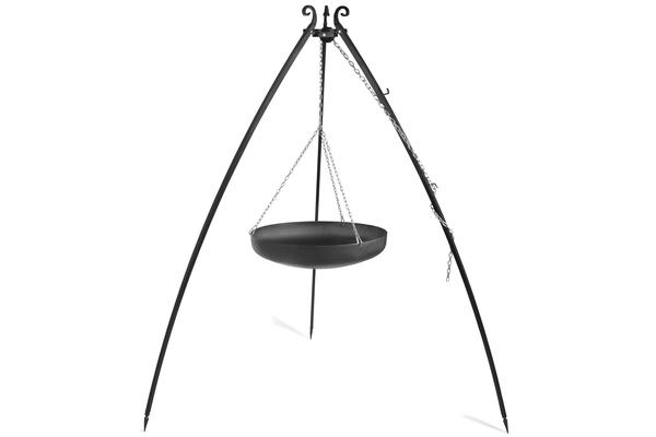 CookKing Trojnožka 180 s pánví WOK 70cm černá ocel