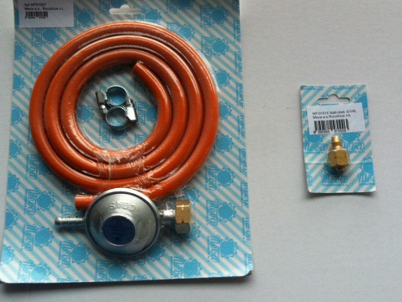 Sada hadice, regulátoru a nátrubku pro připojení grilu NP01007+NP01015