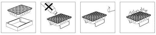 jednorázový gril - návod